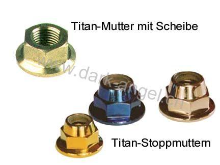 J-Titan-Muttern mit Scheibe + Stopp d.-a.