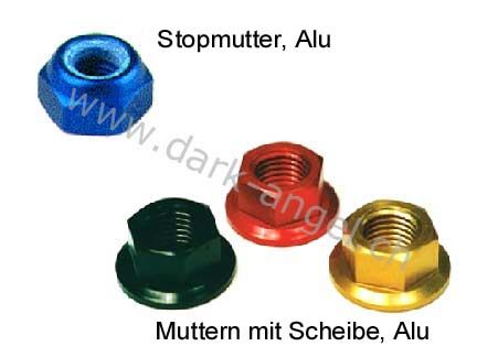 J-Stop.- + Muttern mit Scheibe Alu d.-a.